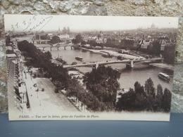 Cpa Vue Sur La Seine, Prise Du Pavillon De Flore. 1915 - Ponts