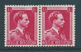 België Leopold Open Kraag Nr 528 Met Druk Op Keerzijde - Variétés Et Curiosités