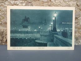 Cpa PARIS-LA-NUIT PONT NEUF - Ponts