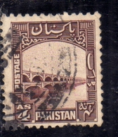 PAKISTAN 1948 INDEPENDENCE 1948 1957 GHULAN MUHAMMED DAM INDUS RIVER 4a USED USATO OBLITERE - Pakistan