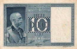 ITALIA 10 LIRE 1938 P-25 XF - [ 1] …-1946 : Regno