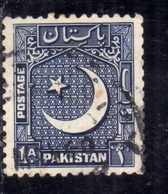 PAKISTAN 1948 INDEPENDENCE 1948 1957 STAR AND CRESCENT 1a USED USATO OBLITERE - Pakistan