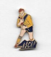 Pin's  Ville, Automobiles  PEUGEOT, Sport  Club  RUGBY  ASCAP  à  SOCHAUX  ( 25 ) Voir  Description - Rugby
