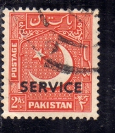 PAKISTAN 1948 INDEPENDENCE 1948 1957 OFFICIAL STAMPS STAR AND CRESCENT SERVICE OVERPRINTED 2a USED USATO OBLITERE - Pakistan