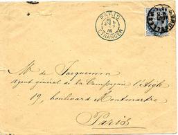 LE 0045 - N° 41 BRUXELLES 5 - 4 AOÛT 1885 S/Lettre V. PARIS - DC PARIS/ETRANGER 5 AOÛT - 1883 Leopoldo II