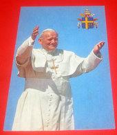 Papa Giovanni Paolo II  Cartolina Con Timbro Chiesa S. Ambrogio Villanova Di Castenaso Bologna - Popes