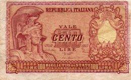 ITALIA 100 LIRE 1951 P-92  VF - [ 2] 1946-… : Republiek