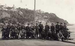 CARTE PHOTO SOLDATS DU 22 BATAILLON DE CHASSEUR NICE - Regiments