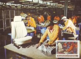 Bophuthatswana - Maximum Card Of 1985 - MiNr. 139 - Industries - Production Of Car Seats - Bophuthatswana