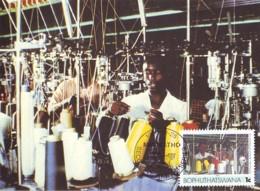 Bophuthatswana - Maximum Card Of 1985 - MiNr. 148 - Industries - Textile Mill - Bophuthatswana