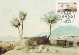 Bophuthatswana - Maximum Card Of 1986 - MiNr. 170 - Historic Of Thaba Nchu - Mission Of The Methodist - Bophuthatswana