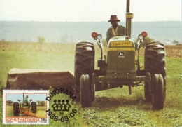 Bophuthatswana - Maximum Card Of 1986 - MiNr. 173 - Agricultural Development Project - Farmer With Tractor - Bophuthatswana