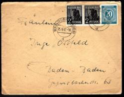 LETTRE EN PROVENANCE DE WALLDÜRN - BADEN 1947 - Zone Anglo-Américaine