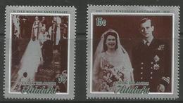 Aitutaki - 1972 Silver Wedding MNH **  SG 46-7 - Aitutaki