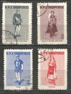 ALBANIA 1961 Used Stamps Set - Albania