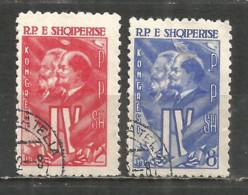 ALBANIA 1961 Used Stamps Set  Lenin - Albania