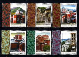 GRECE MONT ATHOS 90/95** Architecture Monastères - Local Post Stamps