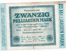 GERMANY20 MILLIARDEN MARK-1923   XF UNIFACE - [ 3] 1918-1933: Weimarrepubliek