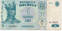 MOLDOVA 5 LEI 1994 P-9 VF - Moldavia