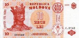 MOLDOVA 10 LEI 2009  P-9 UNC - Moldavia