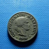 Switzerland 5 Rappen 1909 - Schweiz