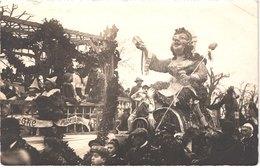 FR34 MONTPELLIER - Carte Photo Carnaval - Tampon Sec - La Reine - Gros Plan - Animée - Belle - Folklore