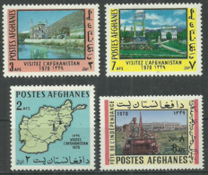Afghanistan 4  Mint Stamps MNH (**) Map - Afghanistan