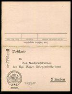 """Bayern / Postkarte Mit Antwortteil """"Koenigl.Bayer.-Kriegsministerium"""" (Heeressache) ** (20133) - Bavaria"""