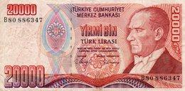 20,000 Turkish Lira 1988 P-201 VF - Turchia
