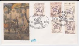 Austria, Germany, Berlin, Belgium & DDR FDC 1990 500 Jahre Post Posted Mechelen (G44-16) - Joint Issues