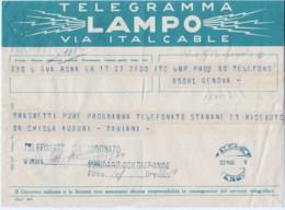 Telegramma Taviani Paolo Emilio 1948 Politico - Documenti Storici
