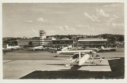 AK  Flughafen Airport Zürich Kloten Mit Swiss Air Flugzeug - Aérodromes
