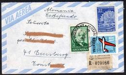 Argentinien 1963 MiNr. 766, 809, 769  Auf R- Brief/ Letter In Die BRD  ,  Von General Rodriguez, Prov. Buenos Aires - Argentinien