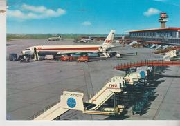 FIUMICINO ROMA AEROPORTO  INTERCONTINENTALE AEREO AVION TWA - Aerodromi