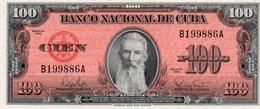CUBA 100 PESOS 1959 P-93 UNC - Cuba