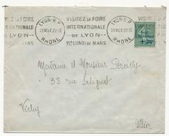 FRANCE - Enveloppe Affr. 50c + 25c Semeuse Lignée Caisse D'Amortissement OMEC Foire De Lyon 1927 - France
