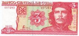 CUBA 3 PESOS 2006 P-127 UNC - Cuba