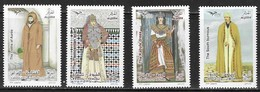 ALGERIA, 2019, MNH,EUROMED, MEDITERRANEAN COSTUMES, 4v - Costumes