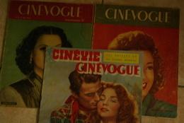 3 Cinevogue  2 X 1946 N 2 N 24   1948 N 26 - Magazines