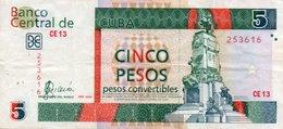 CUBA 5 PESOS 2008 P-FX48 - Cuba