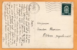 Latvia 1940 Postcard Mailed Cancel - Lettonie