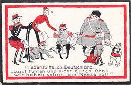 Friedensbitte An Deutschland - 1914            (A-102-160103) - Satiriques