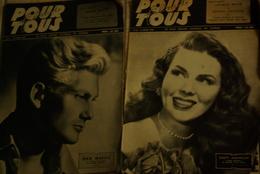 3 Magazine Pour Tous Films  1946 Vanna Urbino Dusty Anderson Jean Marais - Magazines