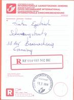 Belgie Belgique Belgium  2018 Cancel Paperclip  Postpunt  Noorderwijk  Registered Mail Paper - Belgique