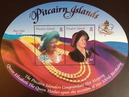 Pitcairn Islands 2000 Queen Mother Minisheet MNH - Pitcairn
