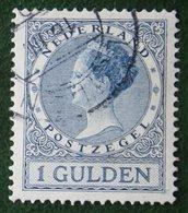 1 Gld Wilhelmina Perf 12 1/2 NVPH 163 163B (Mi 168 B) 1926 1930 Gestempeld / USED NEDERLAND / NIEDERLANDE - Period 1891-1948 (Wilhelmina)