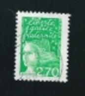 N° 3091 A Sans Phosphore  Type Marianne De Luquet  2.70 Frs  Oblitéré France Timbre  1997 - Variedades Y Curiosidades