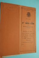 Etude Notaire Raoul NOLS (ECTORS) Berchem-Sainte-Agathe ( Dumont/Van Merhaegen) Anno 1943 ( Voir / Zie Foto ) ! - Oude Documenten