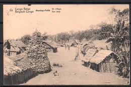 Congo - Entier Postal Stibbe 43 - Vue 39 Staley-falls Un Village - Leopoldville Liege Belgique - 1921 - C8 - Ganzsachen