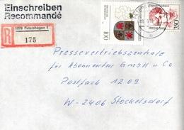 ! 1 Einschreiben 1993  Mit Alter Postleitzahl + DDR R-Zettel  Aus 1273 Petershagen - [7] République Fédérale